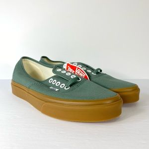 Vans Authentic Duck Green Gum Outsole Sneakers
